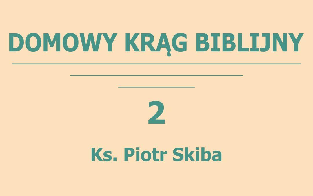 Ks.Piotr Skiba – Domowy Krąg Biblijny 2 – Oikos miejscem rozwoju wiary